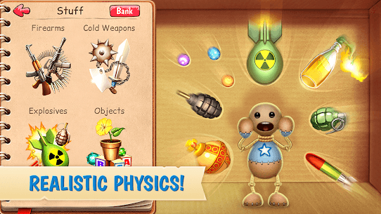 Features of Kick the Buddy MOD Apk